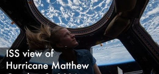 La Station Spatiale Internationale filme l'ouragan Matthew